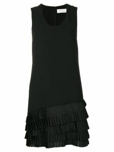 Victoria Victoria Beckham pleated-hem dress - Black