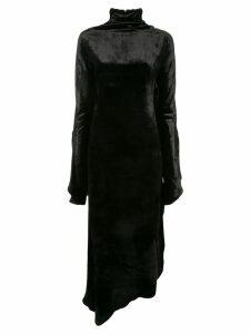 Paula Knorr Relief long sleeve dress - Black