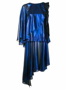 Robert Wun foiled effect dress - Blue