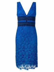 Diane von Furstenberg floral lace midi dress - Blue