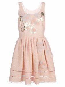 Fendi sleeveless short dress - Neutrals