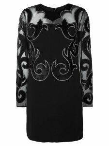 Fausto Puglisi damask detail dress - Black