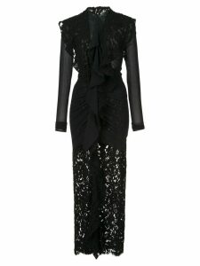 Proenza Schouler Long Sleeve Corded Lace Dress - Black