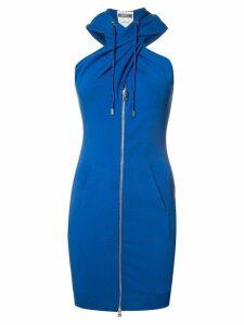 Moschino twist front hoodie dress - Blue