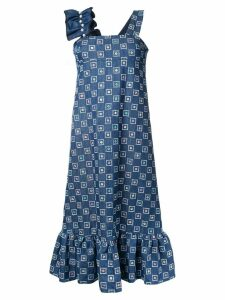 Huishan Zhang embroidered denim dress - Blue
