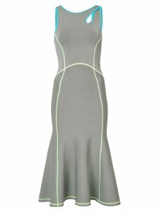 Alexander Wang contrast seam fitted dress - Grey