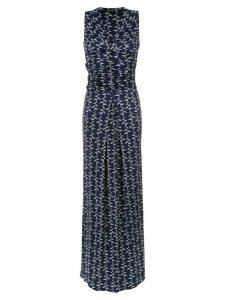 Tufi Duek draped long dress - Blue