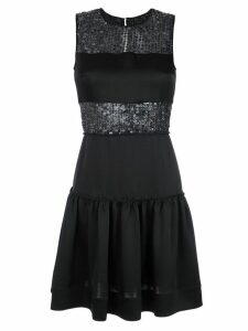 Gloria Coelho sequin panelled dress - Black
