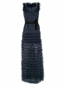 Gloria Coelho ribbons gown - Blue