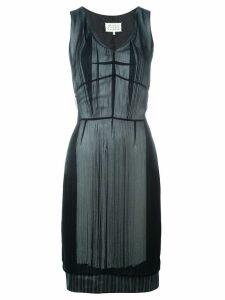 Maison Margiela layered fringe dress - Black