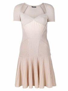 ALEXANDER MCQUEEN mini knit dress - Neutrals