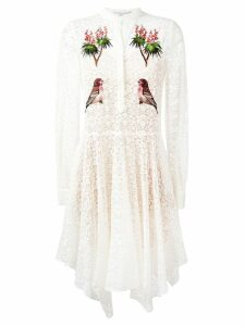 Stella McCartney embroidered robin lace dress - White