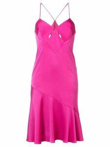 Galvan flared skirt dress - Pink