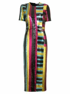 Dvf Diane Von Furstenberg Short-sleeve sequin dress - Multicolour