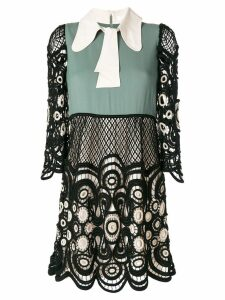 Chloé colour block lace dress - Black