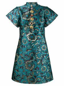 Dolce & Gabbana brocade floral print mini dress - Blue