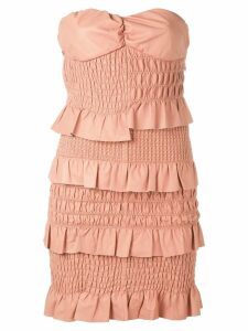 Drome ruched and ruffled dress - Pink