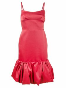 Prada ruffle hem midi dress - Red