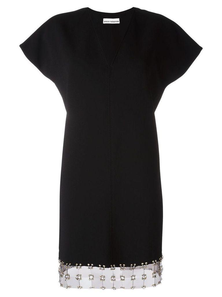 Paco Rabanne V-neck mini dress - Black