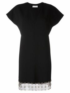 Paco Rabanne V-neck mini dress - Black