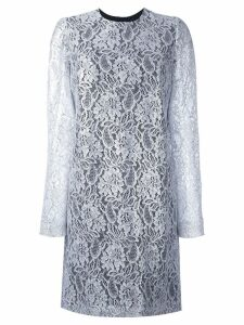 MSGM lace ruffle-back mini dress - Grey