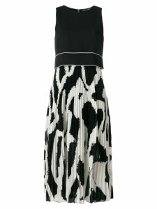 Proenza Schouler Graffiti Pleated Long Dress - Black