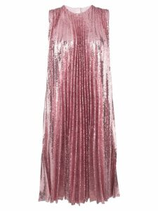 MSGM sequin pleated insert dress - Pink