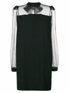 Givenchy studded bow back shift dress - Black