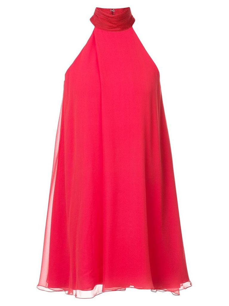 Galvan halter-neck flared dress