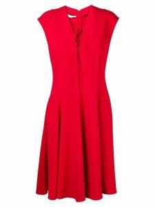 Stella McCartney lace-up dress - Red