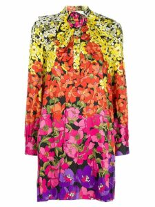 Gucci floral-print bow dress - Yellow