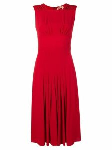 Nº21 pleated detail dress - Red