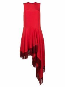Calvin Klein 205W39nyc fringed hem dress - Red