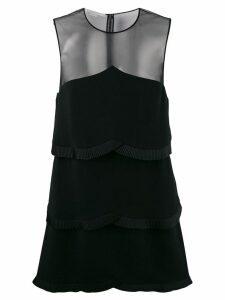 Stella McCartney sheer panel layered dress - Black