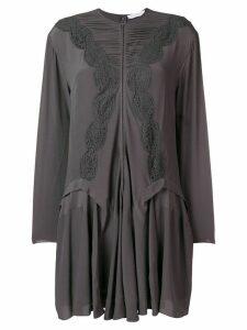 Chloé embroidered shirt dress - Grey