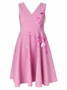 MSGM embellished flared mini dress - Pink