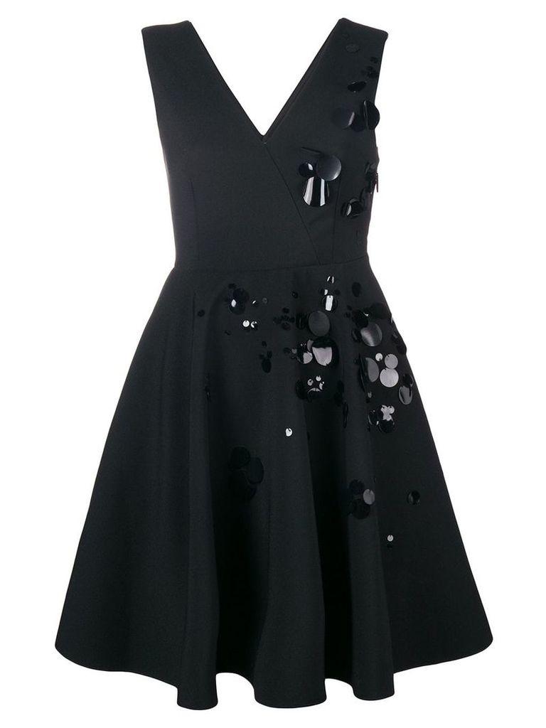 MSGM paillette-embellished crepe dress - Black