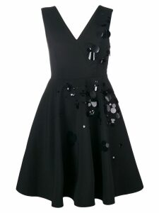 MSGM paillette-embellished crepe dress - Black