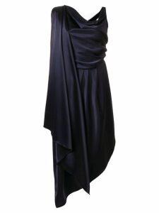 Osman drape front dress - Blue