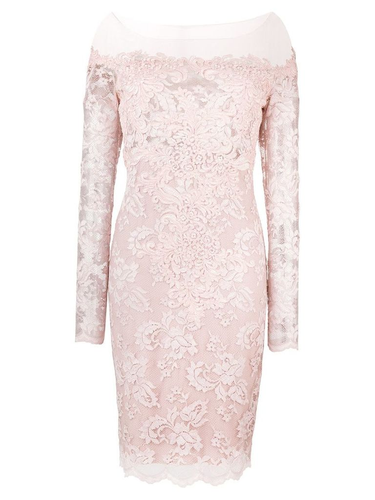 Olvi´S lace-embroidered fitted dress - Pink