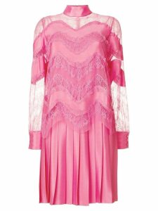 Valentino lace panel dress - Pink