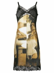 Moschino photo print cami slip dress - Black