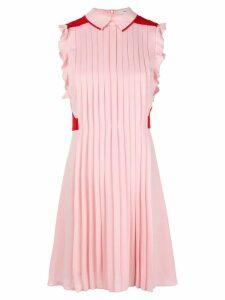 Three Floor flared pleated dress