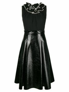 Three Floor flared ruffled dress - Black