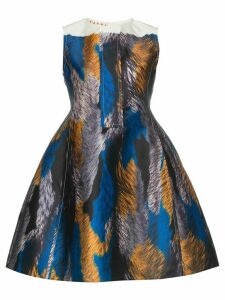 Marni multicoloured sleeveless mini dress - Blue