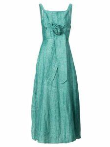 Masscob waist-tie lightweight dress - Green
