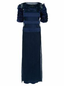 Gloria Coelho panelled gown - Blue