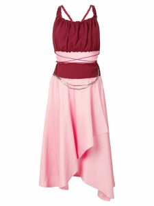 JW Anderson asymmetric midi dress - Pink