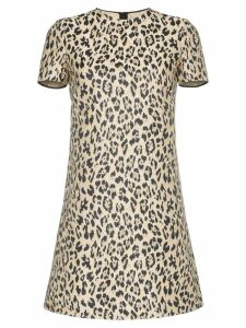Valentino leopard print mini dress - Brown