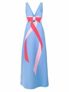 Gucci bow detail dress - Blue